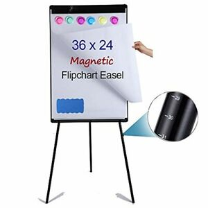 Portable Magnetic Dry Erase Board Easel 24 X 36 height Adjustable Whiteboard E