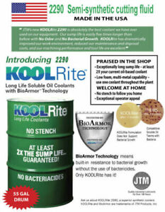 55 Gal Kool Rite 2290 Soluble Oil Coolant Cutting Cnc Lathe Bridgeport Mill