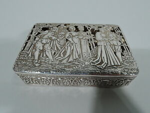 Antique Box English Import German Sterling Silver Bh Muller 1905