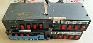 4 For Parts Federal Signal Sw400ss Neg Gnd Light Control Switch Box