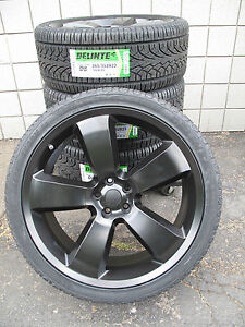 22 Factory Style Dodge Charger Challenger Chrysler 300 Black Wheels Tires 2360