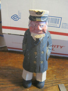 Hand Carved Sea Captain Wooden Nautical 7 Figurine