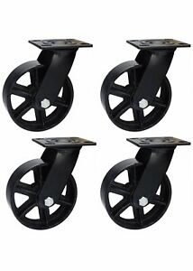Industrial Casters Set Of 4 5 Inch Black