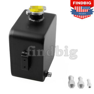 2l Aluminium Alloy Water Coolant Header Overflow Expansion Tank Can Universal