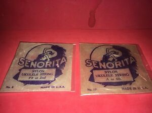 2 Senorita Packages Of Ukulele Nylon Strings F Or 2 A Or 4th Usa E O Mari