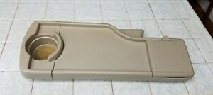00 06 Mazda Mpv Center Console Cup Holder Folding Table Tray Oem Beige
