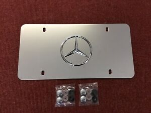 Mercedes Benz Front License Plate Stainless Steel