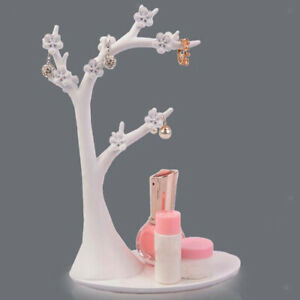 Bird And Twig Jewelry Tree Stand For Hanging Rings Pendants Black white