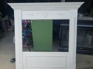 Fireplace Mantle White 58 Inches X 55 1 4 Inches