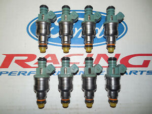 Ford Racing 4 6 5 0 Mustang 24 Lb Pound Blue Top Fuel Injectors Set 8 Oem