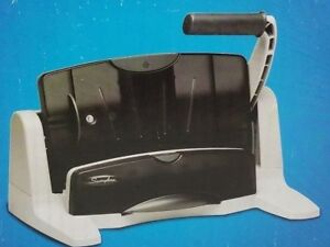 Swingline Lighttouch Heavy Duty Paper Hole Punch Charcoal Gray Lighttouch 40