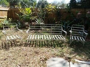 Vintage Woodard Chantilly Rose Wrought Iron Patio Set