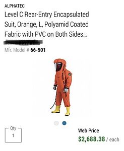 Supplied Air Encapsulated Hazmat Suit new Free Shipping