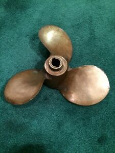 Vintage 100 Brass Boat Propeller 3 Blade Michigan Am3 361