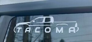 Toyota Tacoma Truck Decal Sticker For Tailgate Bed Window Truck Outline