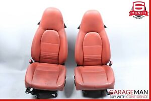 97 04 Porsche Boxster 986 Carrera 996 Front Complete Seat Cushion Set Red Oem