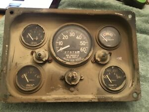 Complete M151 A1 A2 Stewart Warner Gauge Instrument Cluster All Working Tested