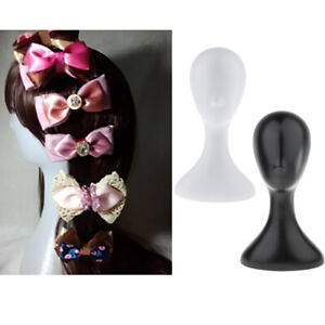 2 Pcs Plastic Mannequin Head Wig Hat Scarf Display Stand Model Salon Shop