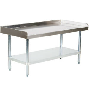 Cmi Commercial Stainless Steel Equipment Grill Stand With Undershelf 24 x48