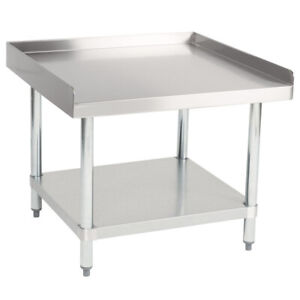 Cmi Commercial Stainless Steel Equipment Grill Stand With Undershelf 30 x30