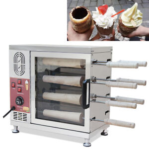 Commercial Electric Hungarian Kurtos Kalacs Chimney Cake Oven Roll Maker Machine