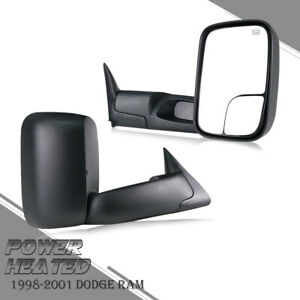 Fit 1998 2001 Dodge Ram 1500 2500 3500 Flip Up Power Heated Towing Mirrors