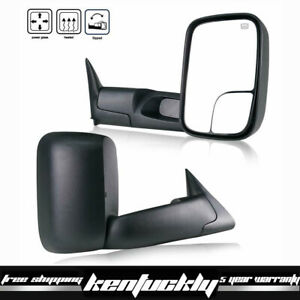 L R Pair Fit 98 01 Dodge Ram 1500 2500 3500 Flip Up Power Heated Tow Mirrors