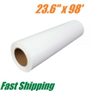23 6 X 98 Roll Printable Pu Heat Transfer Vinyl For Dark T shirt Press Iron On