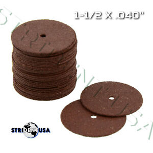 100 Dental High Speed Red Cut Off Wheels 1 1 2 X 040 Separating Discs