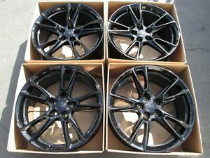 20 Chevy 2019 Camaro Rs Ss Oem Wheels Rims New Car Model Tpms Set 4 Gloss Black
