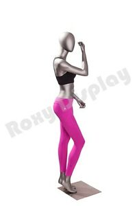 Female Fiberglass Egghead Athletic Style Mannequin Dress Form Display mc jsw05