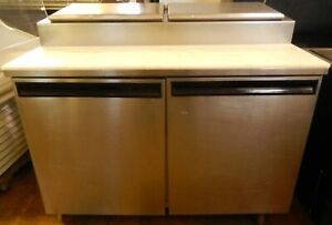 Refrigerated Pizza Prep Table 48 on Casters By Delfield 4248 pt