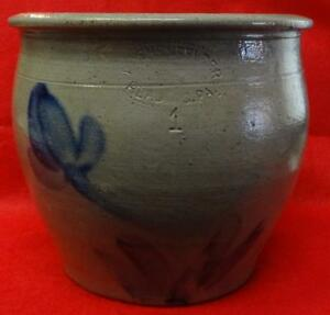 Antique Stoneware Decorated Crock 1 Gallon Shenfelder Reading Pa