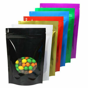 Stand Up Resealable Aluminum Foil Zip Lock Bag Mylar Food Pouches