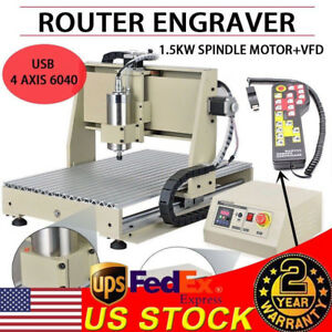 4 Axis Engraver Usb Cnc 6040 Router Engraving Drilling Milling Machine 3d Cutter