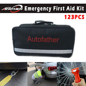 Roadside Emergency Set Car Camper Truck First Aid Kit Reflective Triangle Safety