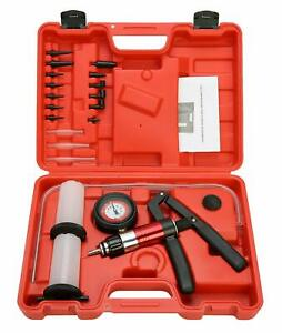 21pcs Hand Held Brake Fluid Bleeder Vacuum Type Bleeding Tester Testing Tool Kit