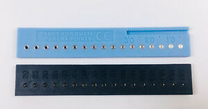 Dental Guage Ruler Holes Gutta Percha Points 134 Endodontics Obturation 2colors