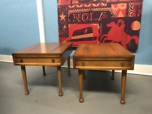 2 Vintage Mid Century Modern American Of Martinsville Side Tables Night Stand