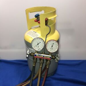 Worthington 30lb Refrigerant Recovery Cylinder Ritchie Yellow Jacket System