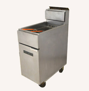 American Range Af 45 Nat Deep Fat Fryer 45 lbs 3 burner 120k btu Single pot Ss