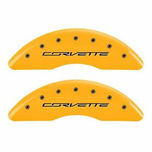 Mgp Caliper Covers Set Of 4 C7 Corvette Engraved Front And Rear 13084scv7yl