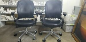 coach Leather Special Edition Steelcase Executive Office Chairs