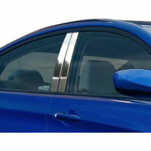 4p Stainless Pillar Post Trim Fits 2012 2016 Hyundai Accent 4dr By Luxury Fx