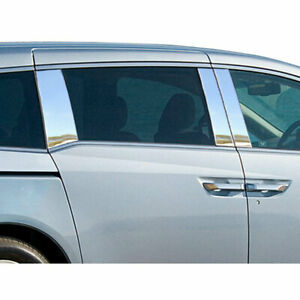 6p Stainless Pillar Post Trim Fits 2011 2016 Honda Odyssey 4dr By Luxury Fx