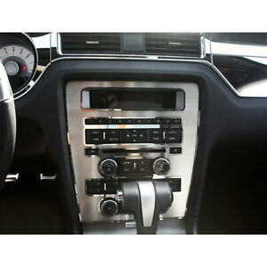 Center Dash Radio Ac Trim Ring For 2010 2014 Ford Mustang Stainless Steel