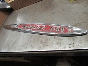 1957 Chevrolet Truck 3100 Fender Emblem Passenger Side Used Part 3733301