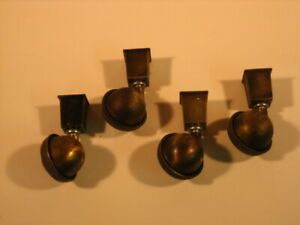 Vintage Shepherd Casters With The Bucket For Wood Leg Chairs Or Tables