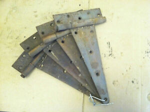 Four 14 Vintage Antique T Strap Barn Door Hinges Rustic Farmhouse Country Decor