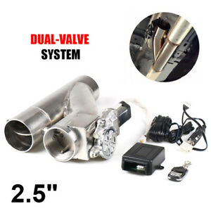 2 5 63mm Exhaust Control Cut Out Dual Valve Electric Y Pipe Wireless Remote